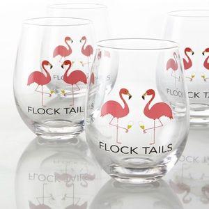 Set of 4 Stemless Cocktail/Wine Glasses Flocktails
